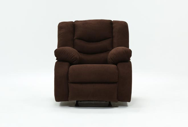 Haines Chocolate Rocker Recliner - 360