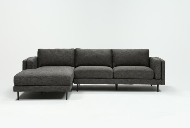 Aquarius Dark Grey 2 Piece Sectional W/Laf Chaise - 360