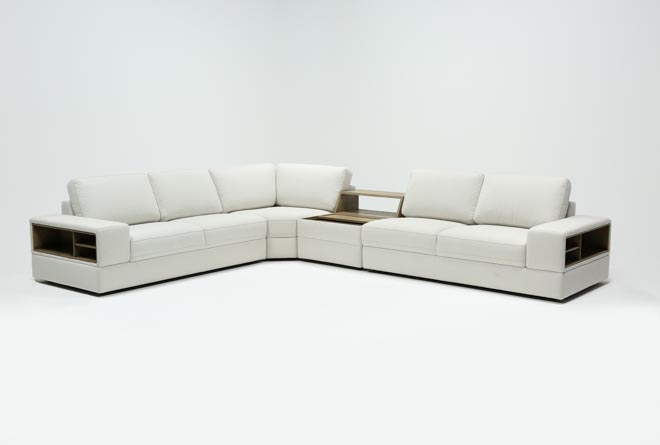Larimar Stone 4 Piece Sectional W/Console & Usb - 360