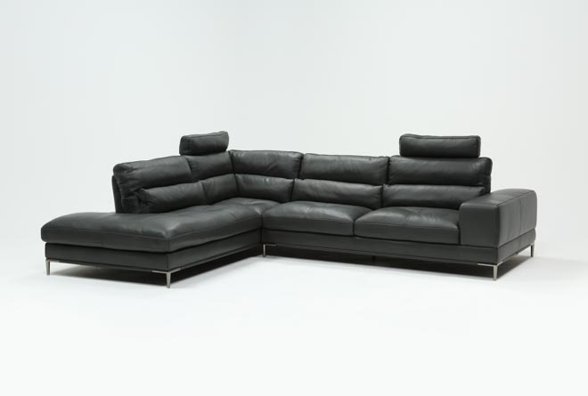 Tenny Dark Grey 2 Piece Left Facing Chaise Sectional W/2 Headrest - 360