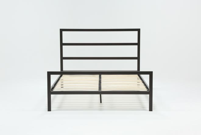 Orson Graphite Full Panel Bed - 360