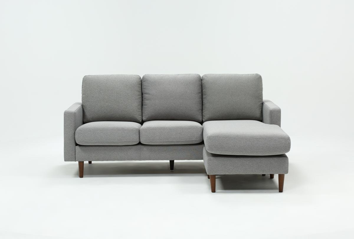 David Grey Reversible Sofa Chaise   360