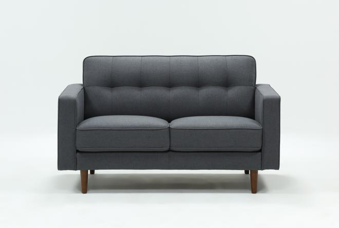 London Dark Grey Loveseat - 360