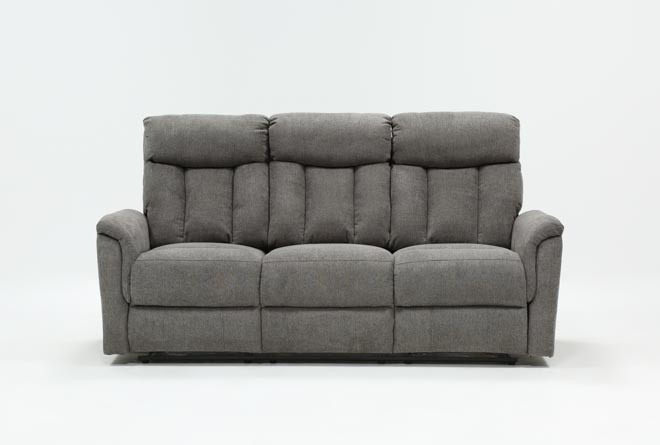 Suzy Dark Grey Reclining Sofa - 360