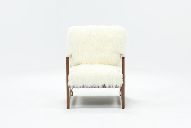 Garbo Fur Accent Chair - 360
