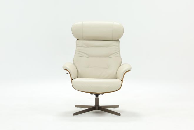 Amala Bone Leather Reclining Swivel Chair - 360