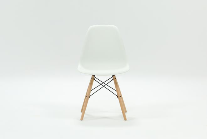 Cole II White Side Chair - 360