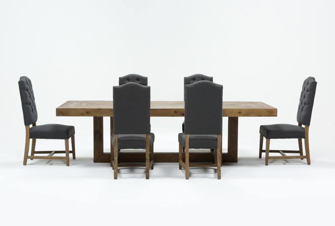 Palazzo 7 Piece Rectangle Dining Set With Joss Side Chairs - 360