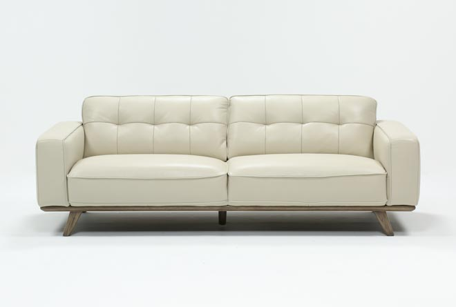 Caressa Leather Dove Grey Sofa - 360
