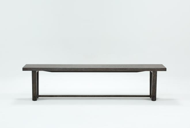 Bale Rustic Grey Dining Bench - 360
