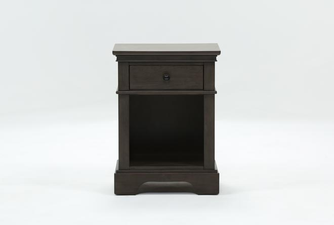 Derby Peppercorn 1-Drawer Nightstand - 360