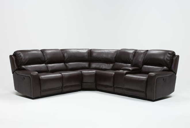 Declan 3 Piece Power Reclining Sectional With Right Facing Console Loveseat - 360