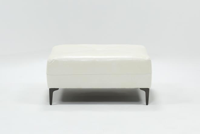 Anson Leather Cocktail Ottoman - 360