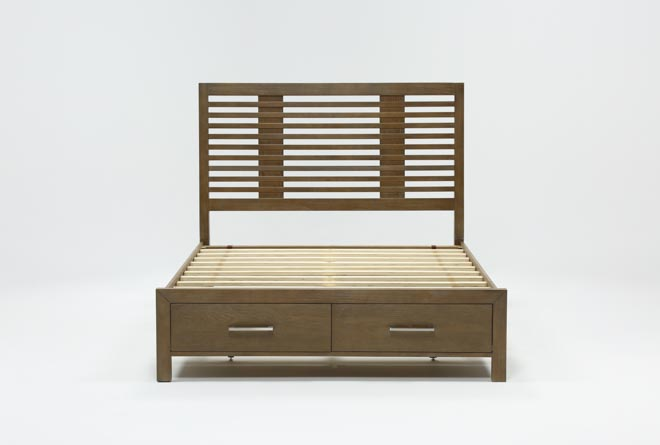 Kevin California King Panel Bed With Storage - 360