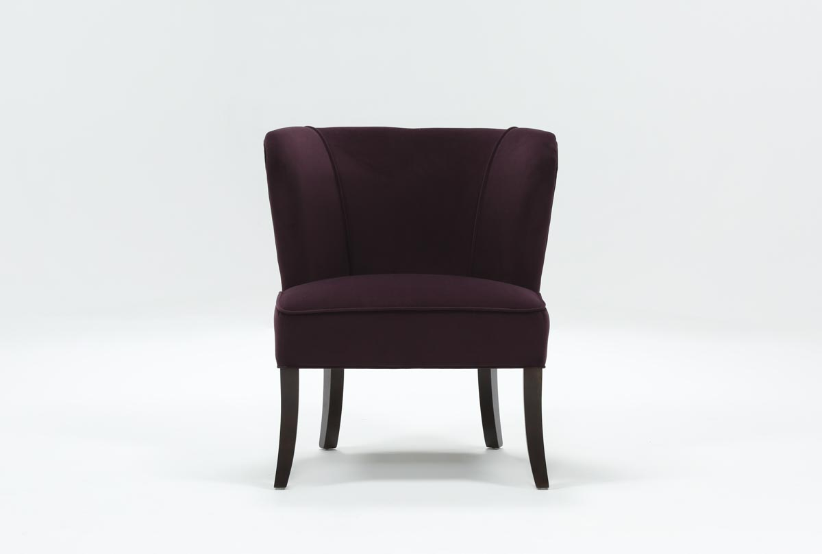 Krista Eggplant Accent Chair Living Spaces