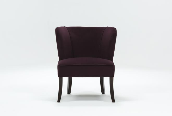 Krista Eggplant Accent Chair - 360