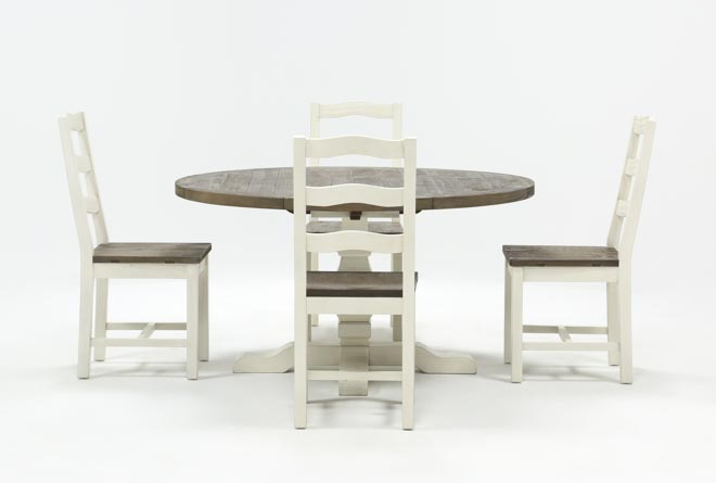 Brentwood Round 5 Piece Dining Set Living Spaces