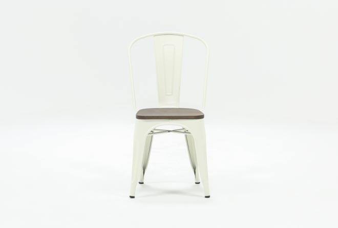 Delta White Side Chair - 360