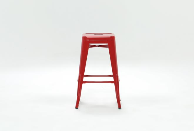 Radical Red 26 Inch Counter Stool - 360
