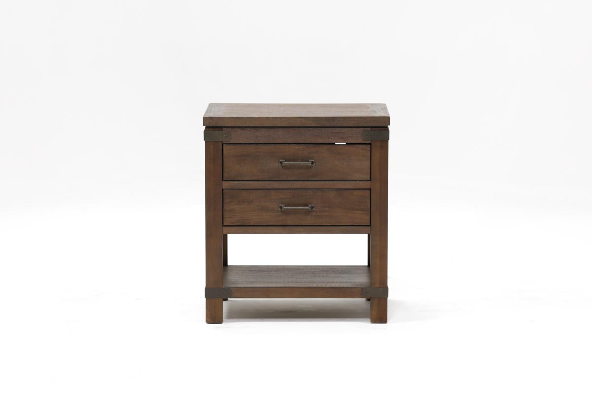 Livingston 2 Drawer Nightstand   360