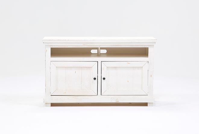 Sinclair White 54 Inch TV Stand - 360