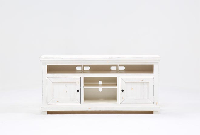 Sinclair White 64 Inch TV Stand - 360