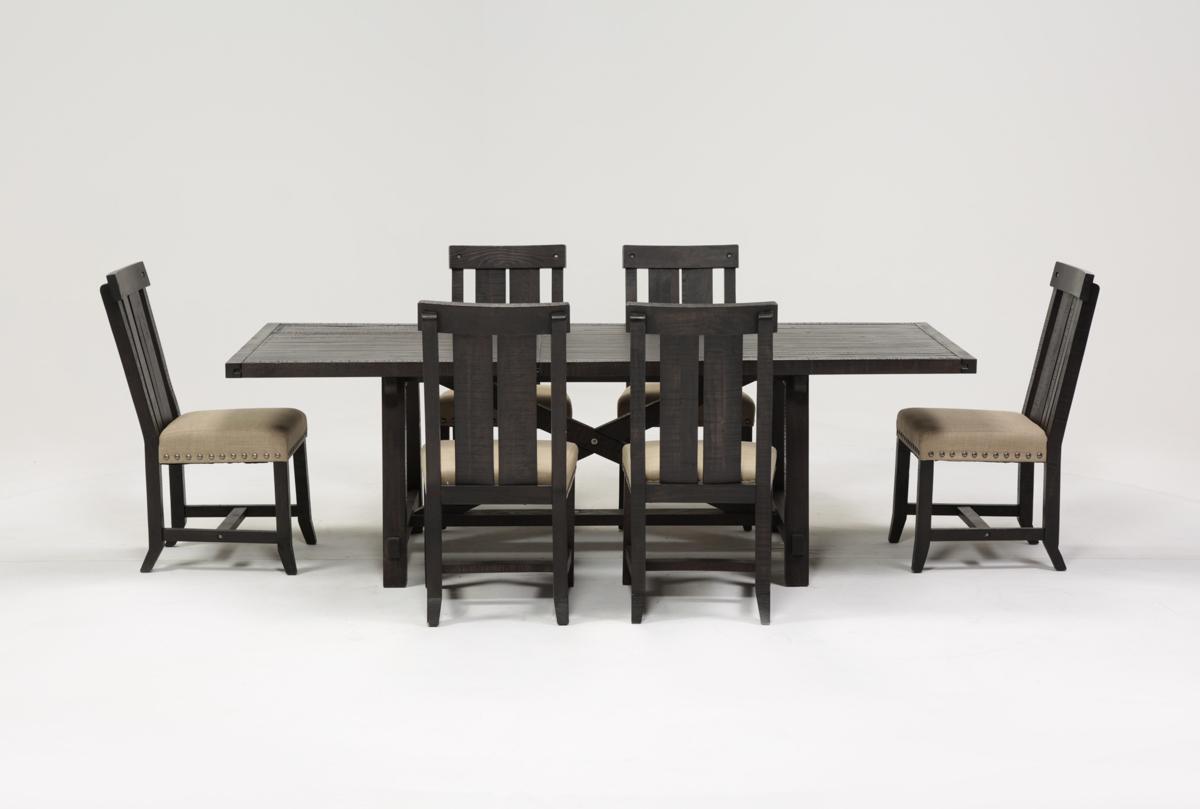 Jaxon 7 Piece Rectangle Dining Set W Wood Chairs