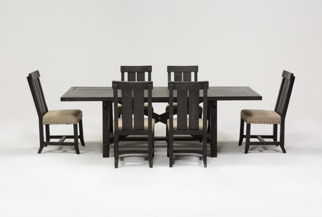 Jaxon 7 Piece Rectangle Dining Set W/Wood Chairs - 360