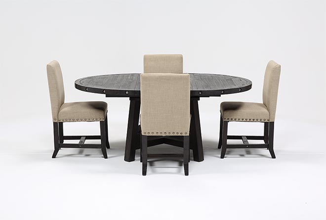 Jaxon 5 Piece Round Dining Set W/Upholstered Chairs - 360