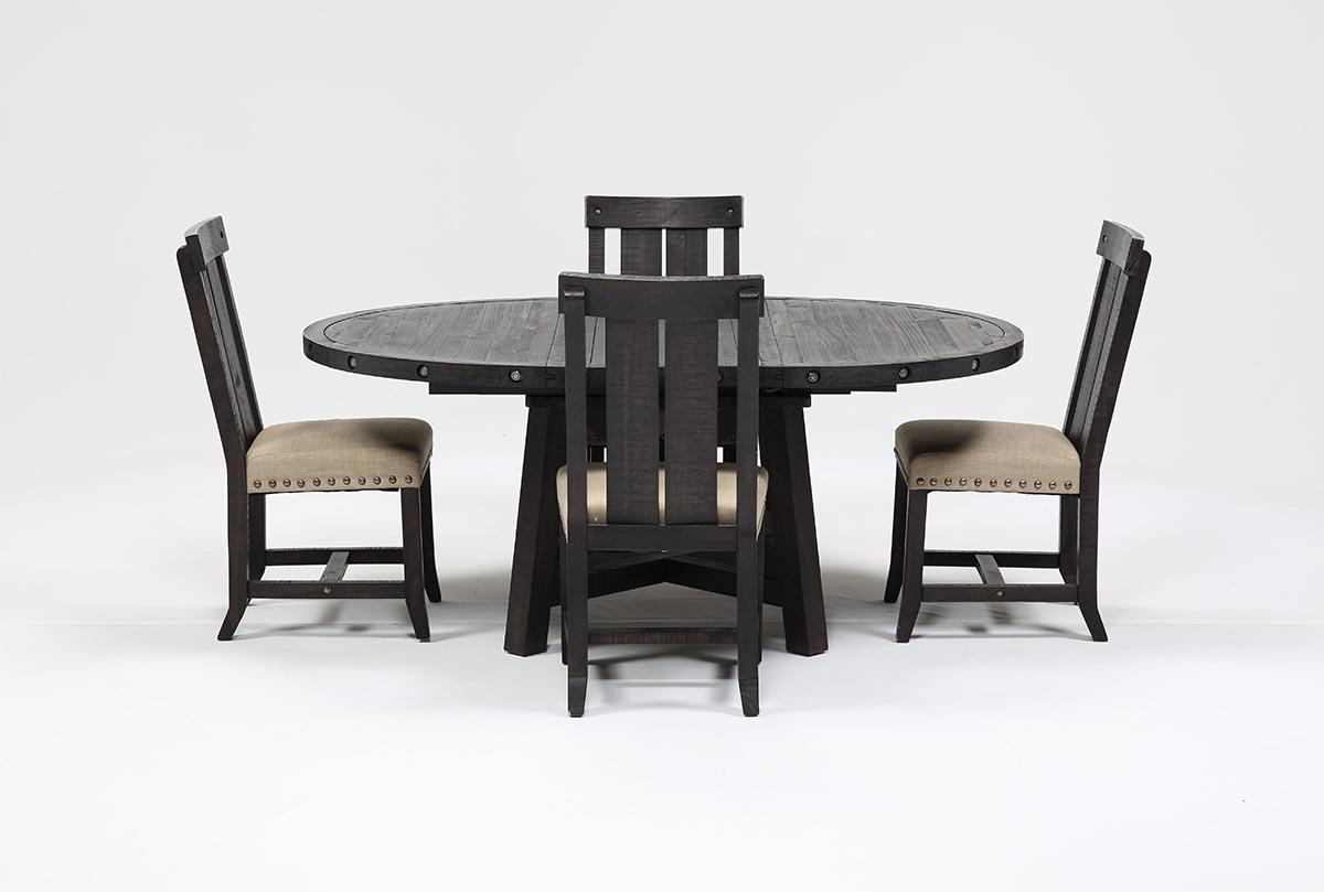 Jaxon 5 Piece Extension Round Dining Set W Wood Chairs
