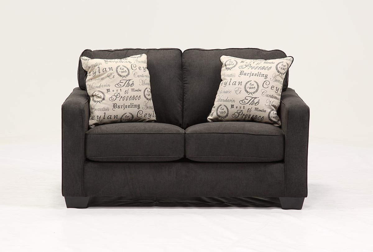 Alenya Charcoal Loveseat Living Spaces