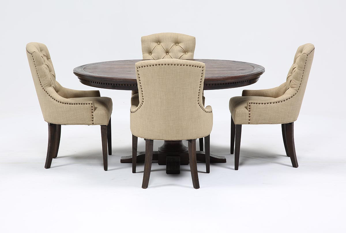 Jefferson 5 Piece Extension Round Dining Set | Living Spaces