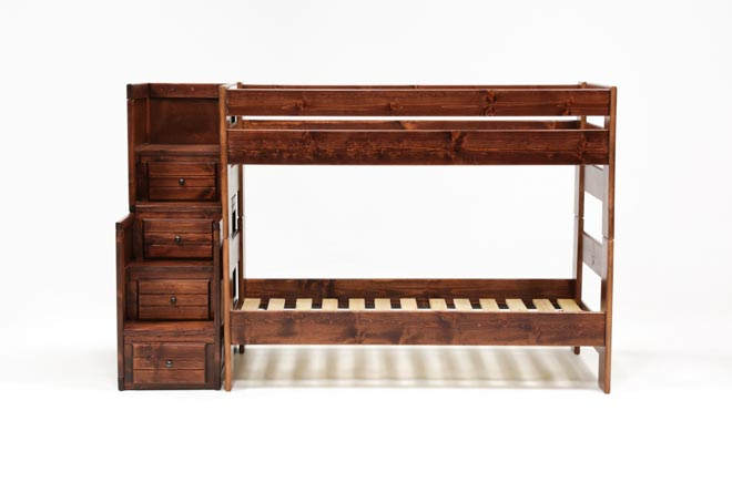Sedona Twin Over Twin Bunk Bed With Stair Chest - 360