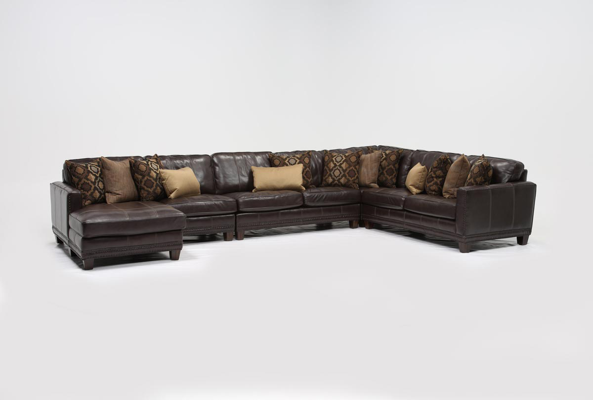 Barnaby 5 piece sectional w laf chaise living spaces for 5 piece sectional sofa with chaise