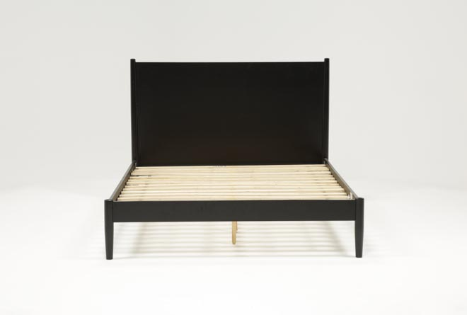 Alton Black Eastern King Platform Bed - 360