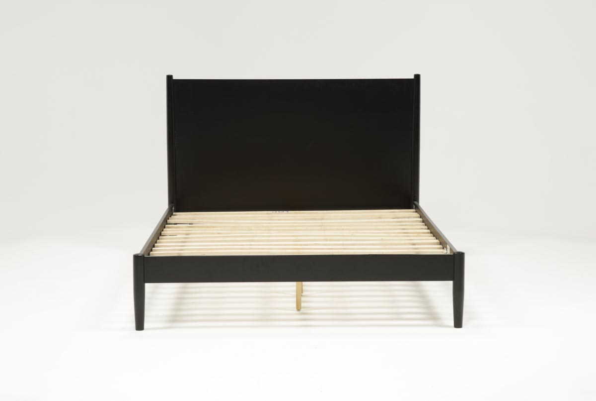 with platform teak king sold vintage bed stands night attached scandinavian modern product