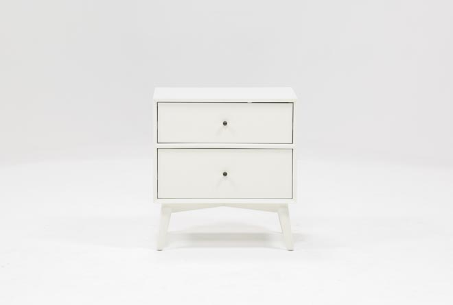 Alton White Nightstand - 360