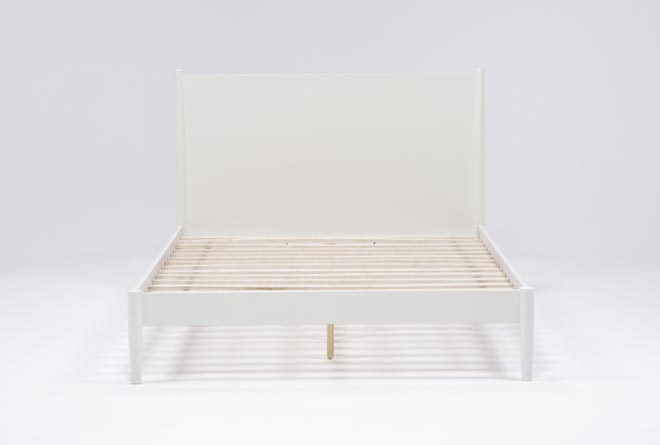 Alton White Eastern King Platform Bed - 360