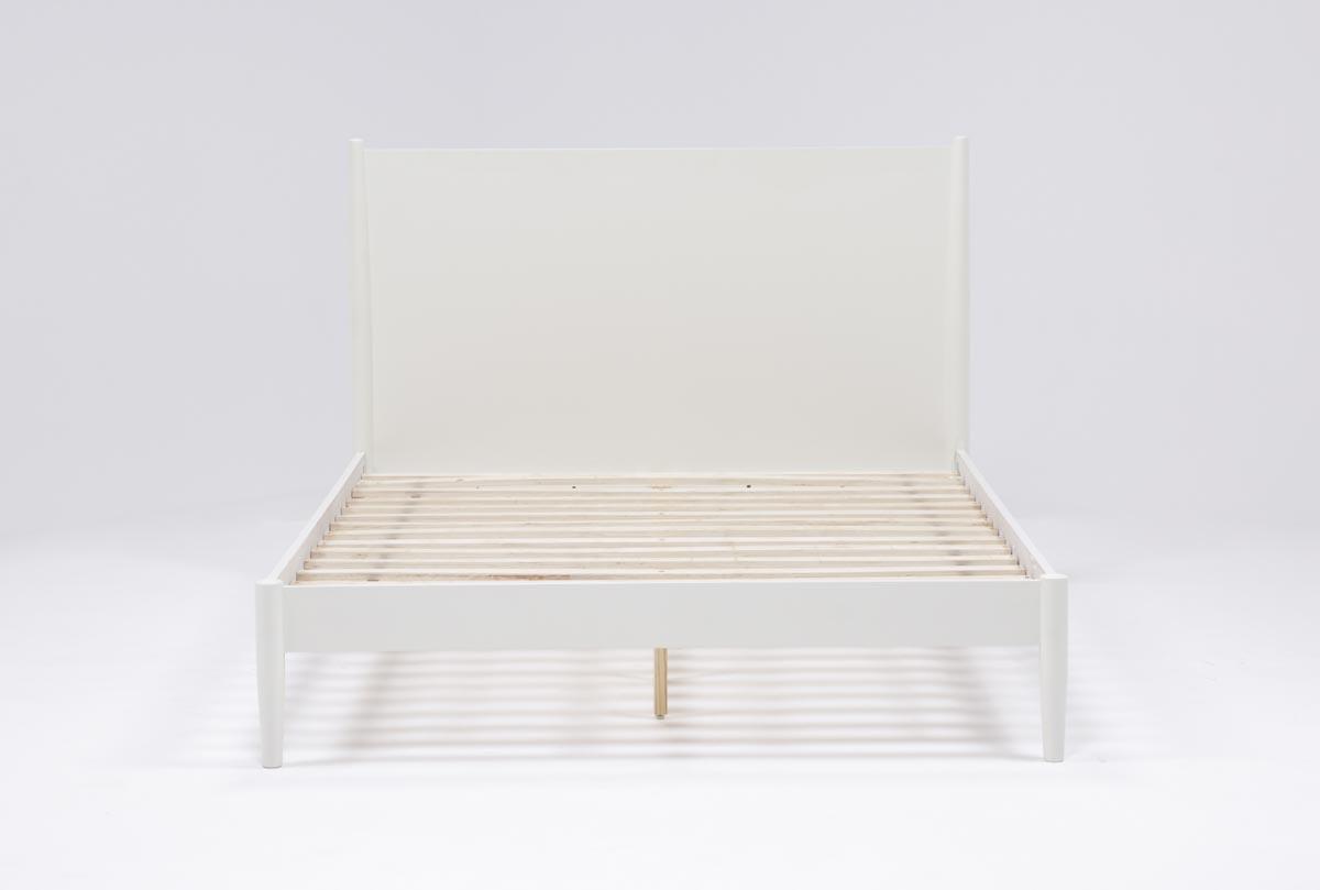 Alton White California King Platform Bed | Living Spaces