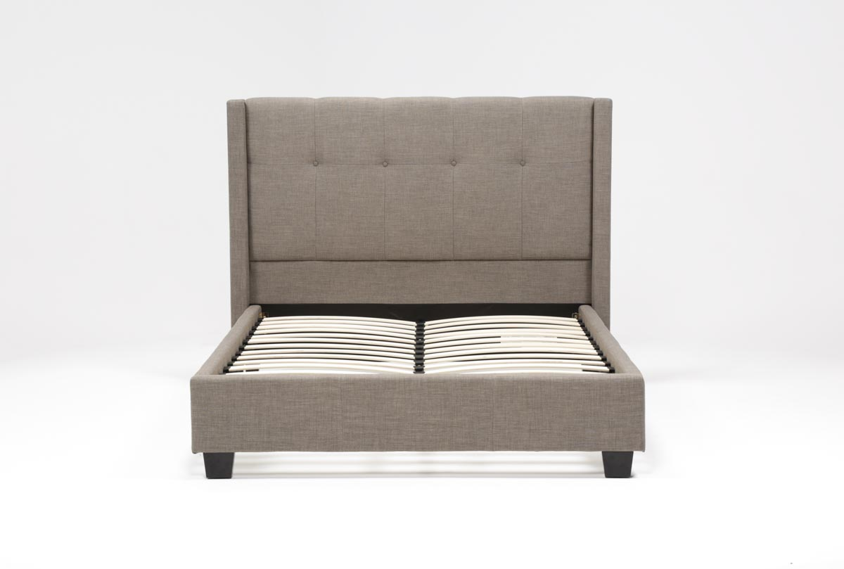 damon ii queen upholstered platform bed  . damon ii queen upholstered platform bed  living spaces