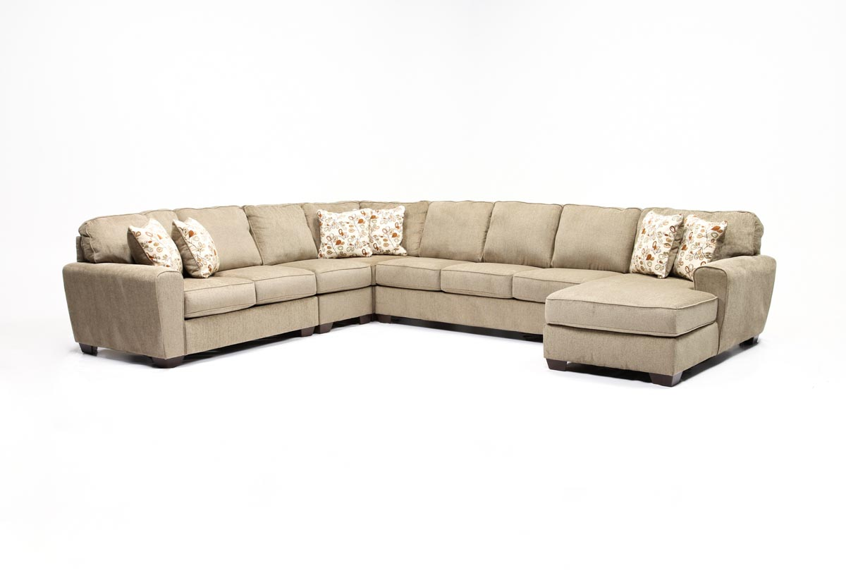 Patola Park 5 Piece Sectional WRaf Chaise Living Spaces