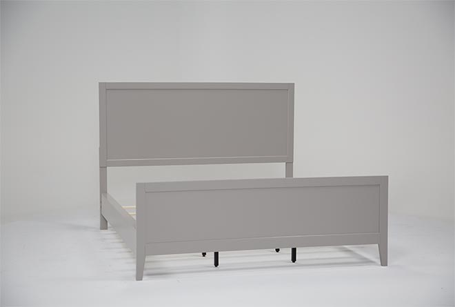 Bayside Grey California King Panel Bed - 360