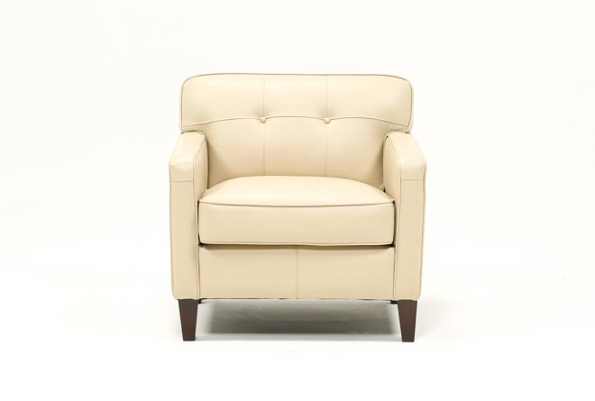 Madison Taupe Leather Chair - 360