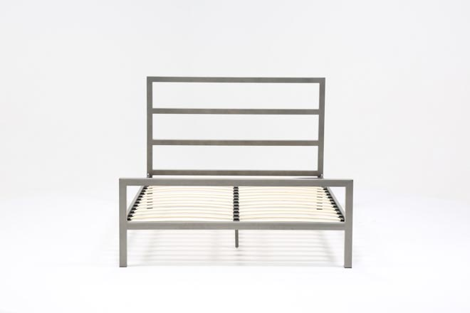 Orson Grey California King Metal Panel Bed - 360