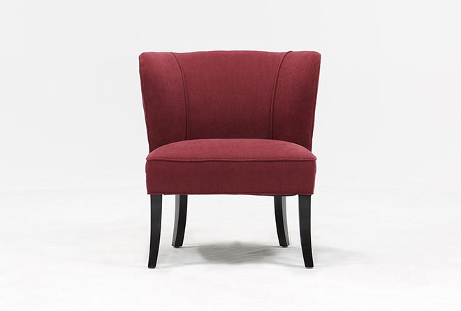 Riley Raspberry Accent Chair - 360