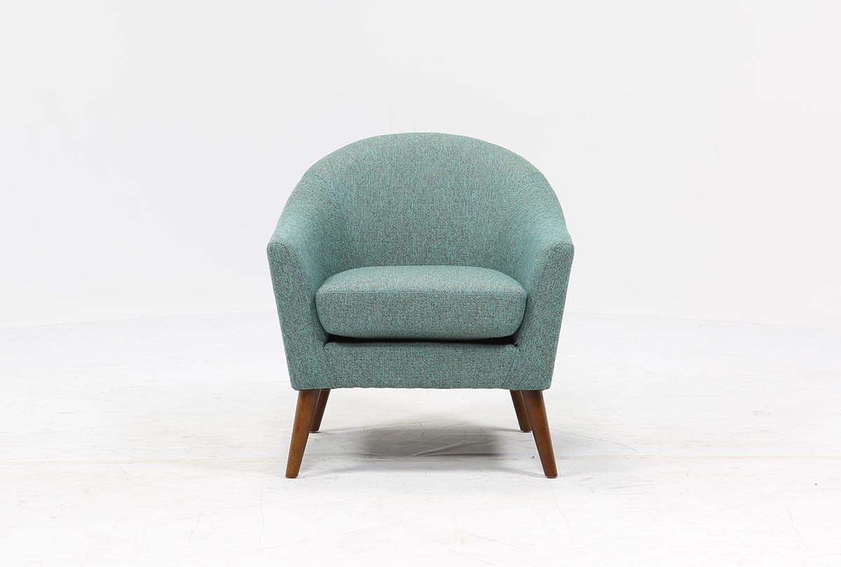 Finn Teal Accent Chair Living Spaces