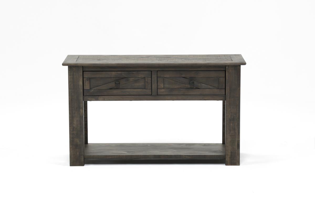 Popular 225 list grey sofa table for Living spaces sofa table