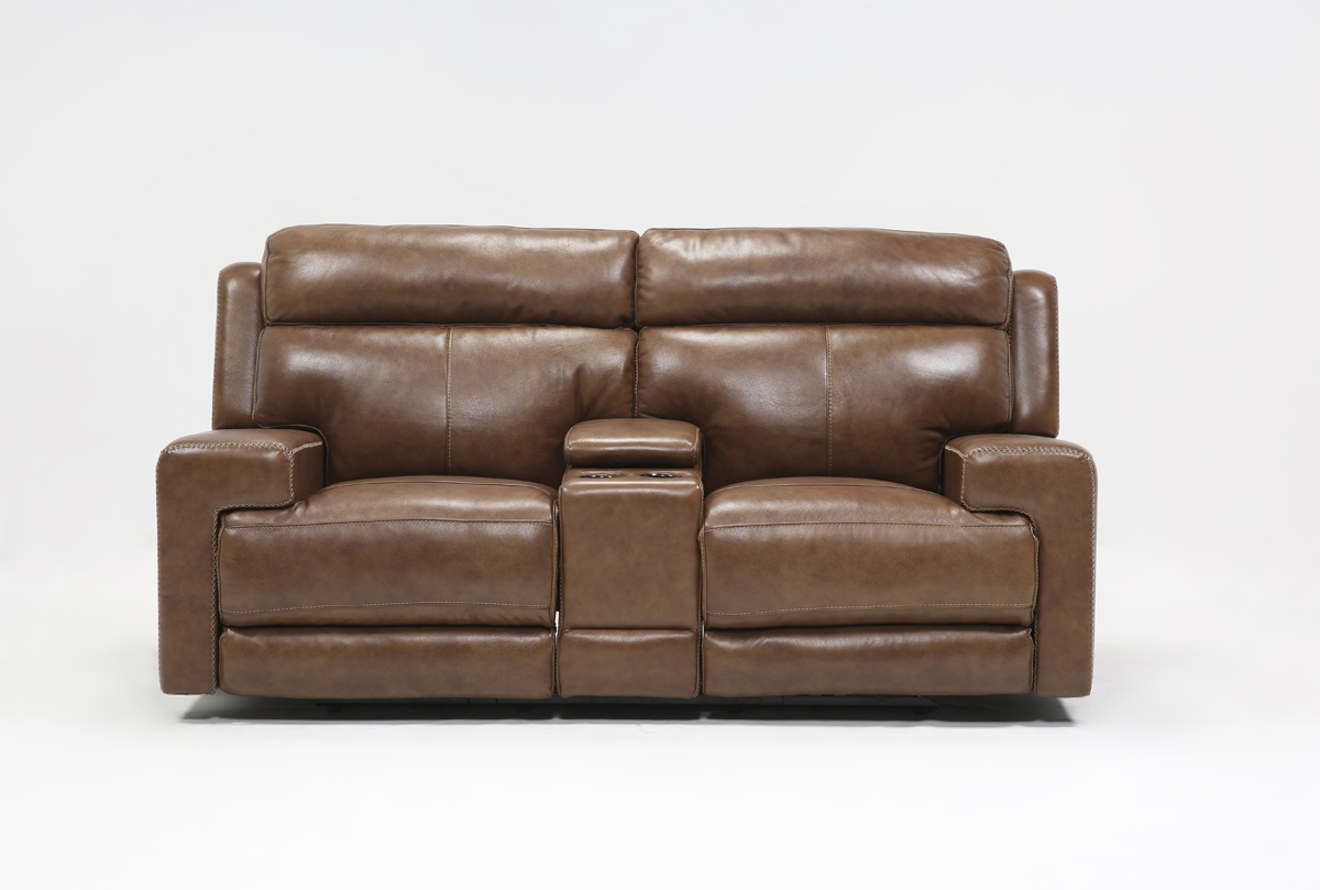 doble homelegance in loveseat leather center w glider brown hm hill with reclining console