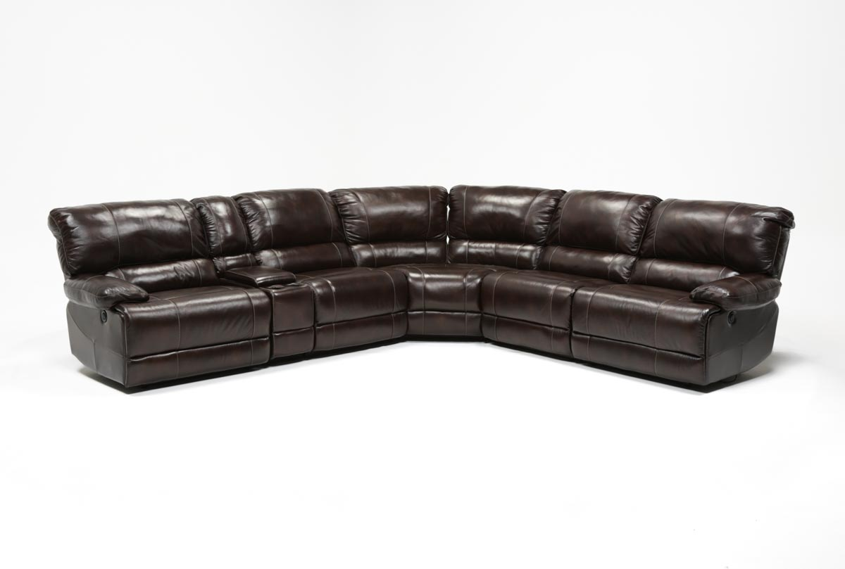 Payton 6 Piece Sectional W Manual Armless Recliner Living Spaces ~ Payton Power Reclining Sofa