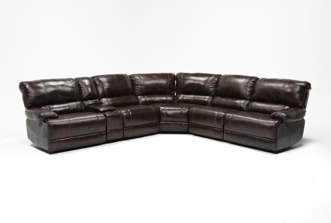 Payton 6 Piece Sectional W/Manual Armless Recliner - 360